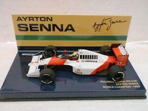 Minichamps 1/43 - Mclaren Honda Mp 4/5 B Ayrton Senna W.c. 1990 540 904327