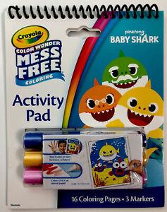 Crayola Color Wonder Mess Free Coloring Baby Shark Activity Pad Nip 71662171254 Ebay