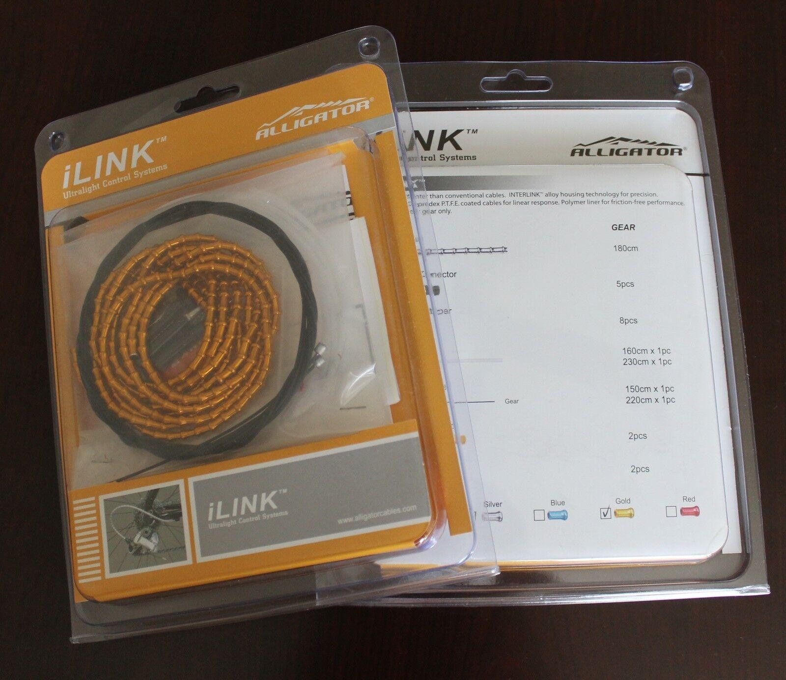 New Alligator I-Link cable set kit, 4mm, SHIFT GEAR - gold vs Nokon