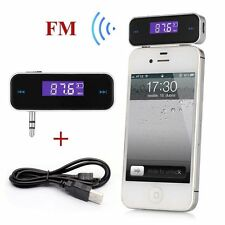 New Wireless 3.5mm MP3 Music to Car Radio FM Transmitter For Cell Phone iPhone