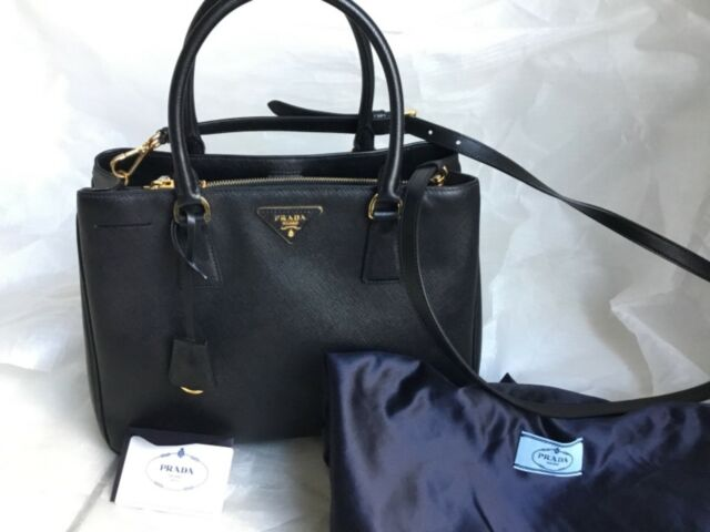 ed6d5da1c7d420 order brand new prada saffiano small lux black leather tote retail 2350.00  0bf36 acbbe