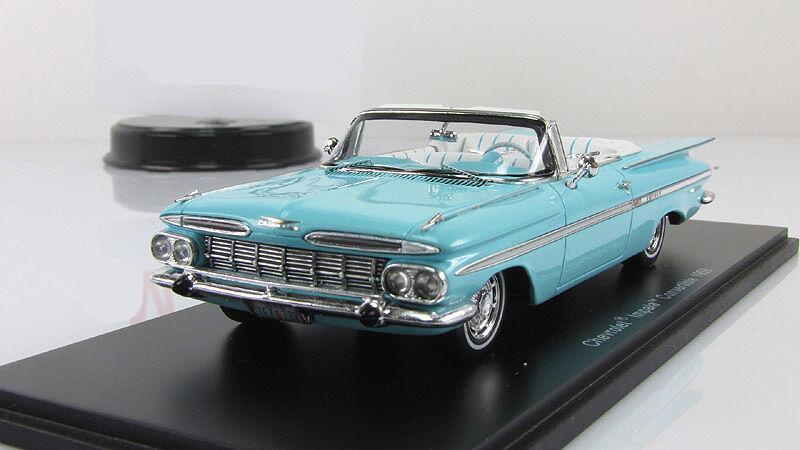1 43 Spark Chevrolet Impala Convertible 1959 Bleu S2901