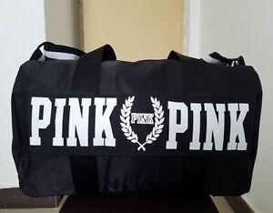 Victoria s Secret Love Pink Duffel   Gym Bag - Black - Free Shipping ... bf70ec20c