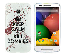 TPU Case f Motorola Moto E Schutzhülle Tasche Cover keep calm and kill Zombies