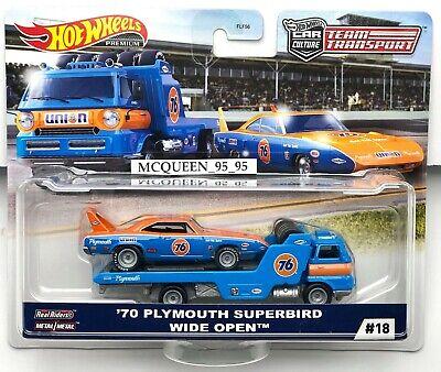 Hot Wheels 2020 Team Transport /'70 Plymouth Superbird /& Wide Open Car Culture