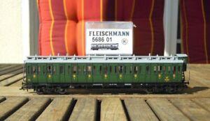 Fleischmann-588601-K-h0-compartimento-carrello-con-rimproverate-casa-FS-EPOCA-2-3-con-KK-e-NEM