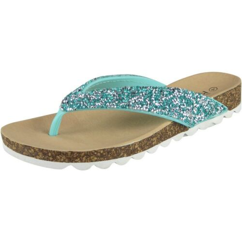 Womens Toe Post Flats Ladies Summer Slip Ons Fashion Chappal Sandals Shoes Size