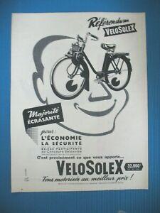 PUBLICITE-DE-PRESSE-VELOSOLEX-ECONOMIE-SECURITE-ILLUSTRATION-RENe-RAVO-D-1958