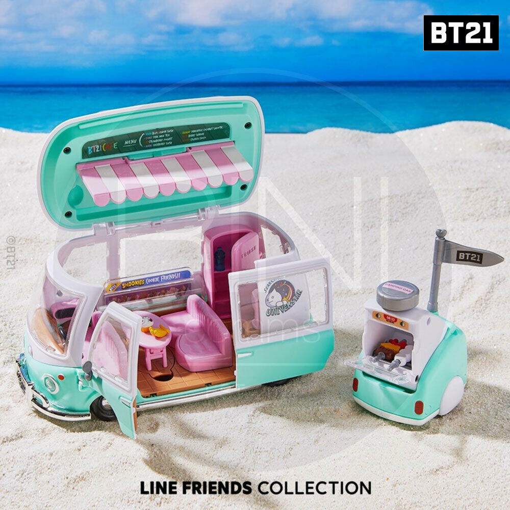 BTS BT21 Official Goods Collectible Figure Playset Camping Car Edition + TR Code