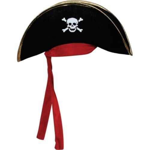 Adult Pirate Hat for Men or Women Costume Fancy Dress Party