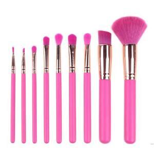 9pcs-Pink-Makeup-Brushes-Foundation-Powder-Eye-Shadow-Brush-Cosmetic-Tool-JT1