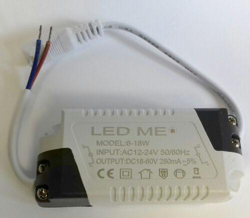 Corrente Costante LED Driver 6-18W 280mA AC 12-24V trasformatore di alimentazione 12V