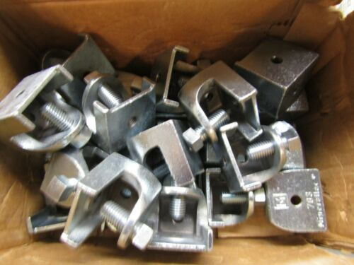"""Minerallac 703 Beam Clamp 1//2/""""-13 Tapping Bottom /& Back Lot of 26"""