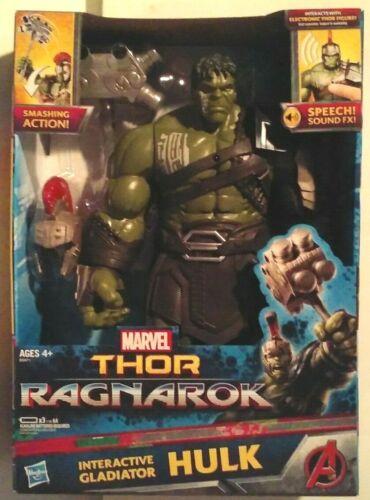 Marvel Thor Ragnarok Interactive Gladiator Hulk Electronic figure neuf Comme neuf en boîte scellée