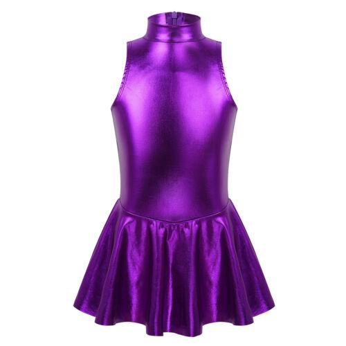 Kids Girls Sequins Ballet Tutu Dress Modern Jazz Latin Leotards Skirts Costumes