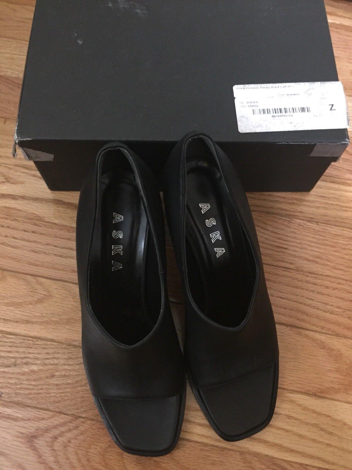 garanzia di qualità ASKA Marley nero Smooth Calf Block Heels Heels Heels Dimensione 39 -  305 Made in   acquista online