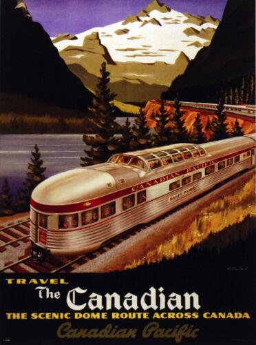 Decor Train POSTER.Canada Railroad.Home Wall Art.Room Interior design.680
