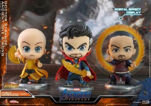 Hot Toys Avengers Endgame Cosbaby Bobble-Head Doctor Strange/&Ancient One/&Wang