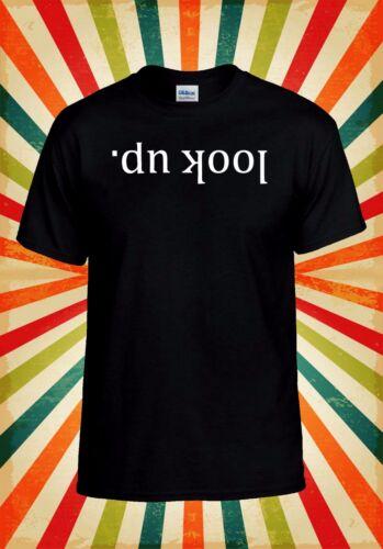 Look Up Cool Retro Funny Novelty Men Women Vest Tank Top Unisex T Shirt 1495
