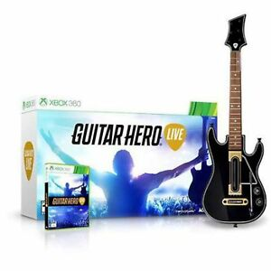 NEW-XBOX-360-Guitar-Hero-Live-Wireless-GUITAR-CONTROLLER-Single-Bundle-WITH-GAME