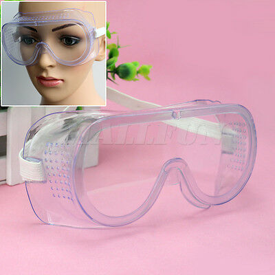 New Useful Safety Vented Goggles Eye Protection Lab Protective Glasses Clear