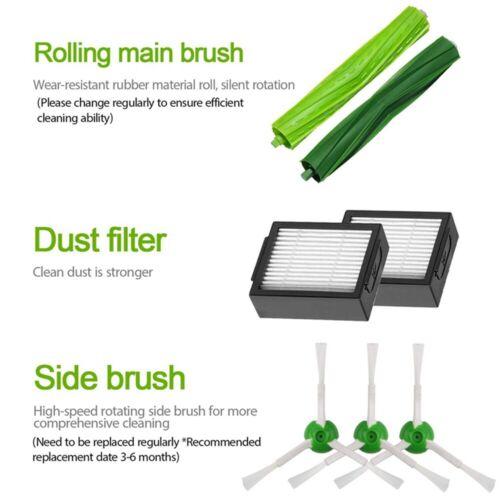 Replacement Parts Side Brush Filter For IRobot Roomba i7 i7+//i7 Plus E5 E6 E7