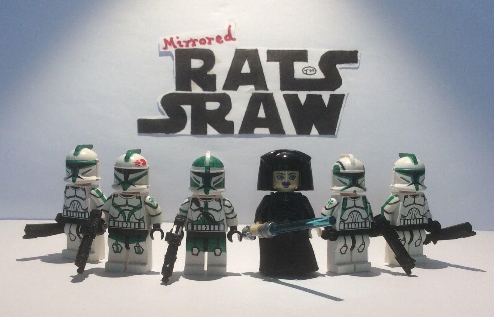 Lego Star Wars Minifigures-Clone Custom Custom Custom Troopers-Général UNDULI Vert De Coy a00ccc