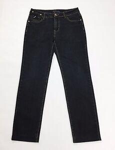 Max-Liu-jeans-M-W30-tg-44-jeans-gamba-dritta-blu-usato-donna-denim-slim-T1985