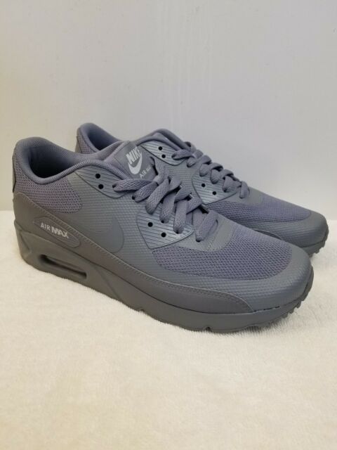 Nike Air Max 90 Ultra 2.0 Essential Mens 875695 003 Grey Running Shoes Size 8
