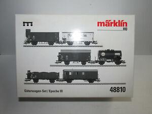Maerklin-48810-Gueterwagenset-mit-6-Wagen-48810-01-02-03-04-05-06-OVP-Spur-H0