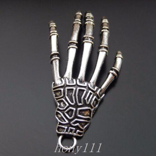 20pcs Vintage Style Silver Alloy Devil Hand Palm Pendant Charms Jewelry 39900
