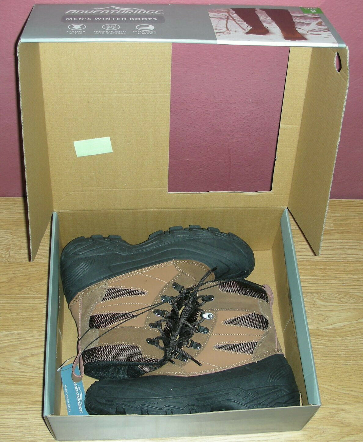 MEN'S WINTER BOOTS with 3M Thinsulate US shoe SIZE 9 Adventuridge