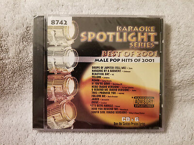 Amiable Sound Choice Karaoke Spotlight Series Cdg - Male Pop Hits Of 2001 - 8742 New!