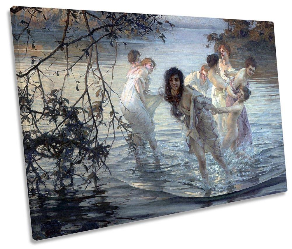 Paul Émile CHABAS Dancing ninfe Art Foto Tela Singola Wall Art ninfe Print 8261af