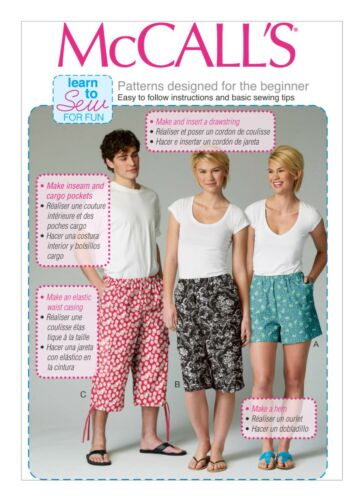Mccall\'s Learn to Sew Sewing Pattern for Family Shorts - M6933 | eBay
