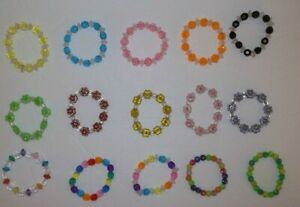 "Lot of 15 bead bracelets  fits 18/"" American girl doll  #1"