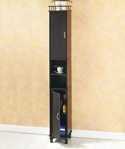 Image Is Loading 65 034 Slim Storage Cabinet Kitchen Bath Laundry