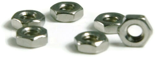 Qty 100 Stainless Steel Hex Machine Screw Nut Small Pattern #2-56