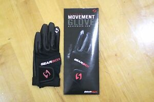 GEARBOX RACQUETBALL GLOVE. MOVEMENT. BLACK. RIGHT HAND EXTRA LARGE L. 1 GLOVE
