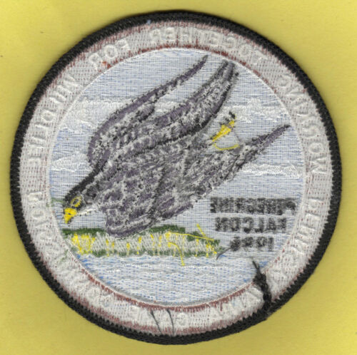 """Pa Pennsylvania Fish Game Commission NEW 4/"""" 1996 WTFW Peregrine Falcon Patch"""