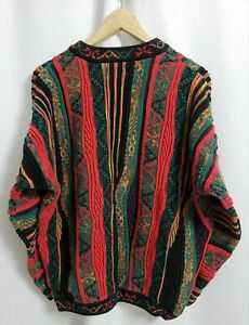 VTG-Norm-Thompson-Multi-Color-Pullover-Gr-XL-034-Bill-Cosby-COOGI-wie-034-clever