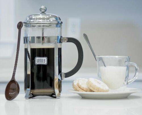 Venoly verre presse française Coffee /& Tea Maker 1 L Capacité 2 cuillères-Chrome