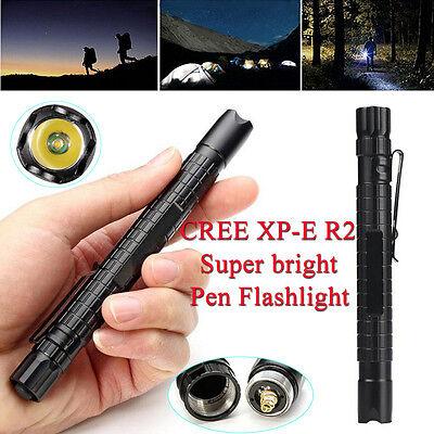 Tactical Mini Pen Pocket XP-E R2 LED 1000LM Flashlight Torch Fine Hot