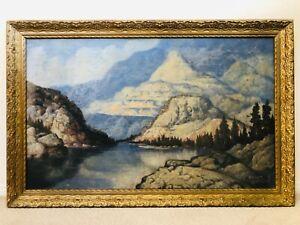 🔥 Antique RARE California Plein Air Impressionist Oil Painting, Herbert Shuler