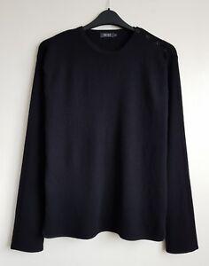 Jumper Blend 50 Wool Black 120 £ Reiss Rrp Size Xl Mens tIxwX1BqSA