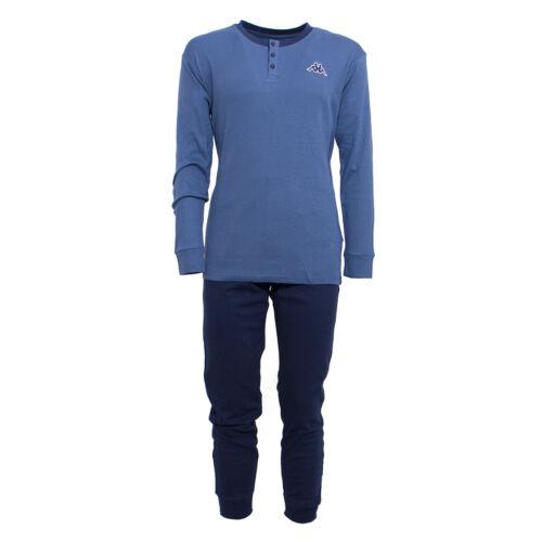 Schlafanzug Herren Serafino Kappa Aus Warme Baumwolle Winter KMW18519 T715