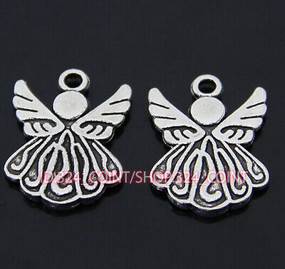 P036 15pcs Tibetan Silver Charm Little Angel Jewelry Accessories Bead Wholesale