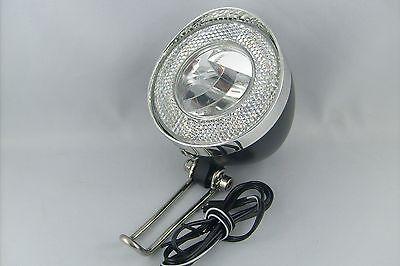 Nostalgie LED Retro Scheinwerfer Fahrrad 40 LUX UN-4935 StVZO Schalter Halter