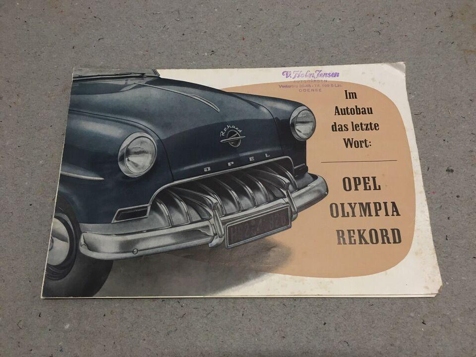 Salgsbrochure., Opel Olympia Rekord.