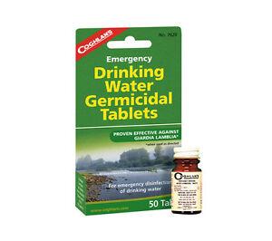 Tabletas-de-purificacion-de-agua-50-Pack-Coghlans-yodo-Germicida-potable-tratamiento